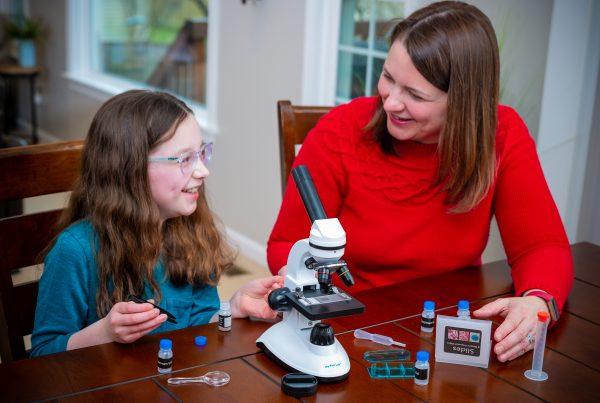 STEM microscope for girls