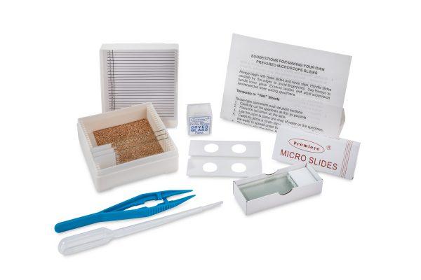 Microscope slide accessory kit for kids
