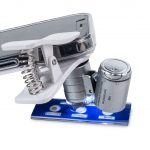 Smartphone clip on microscope